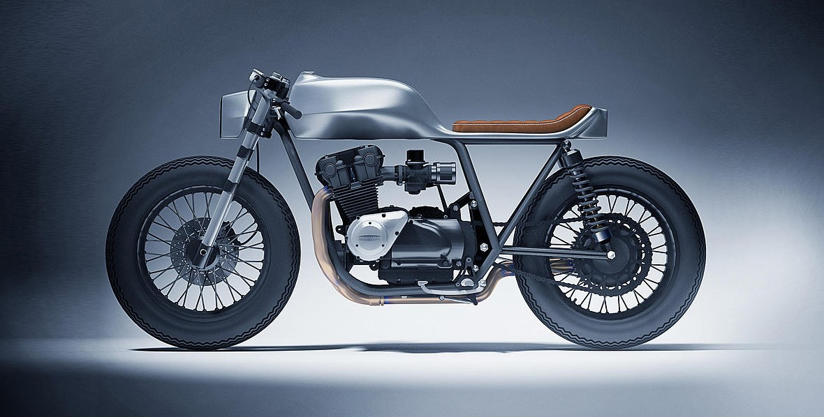 Dimitri Bez Renders The Honda CB1100 Into A Sleek Cafe Racer
