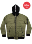 THE-LOWDOWN Hooded Bomber
