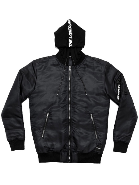 Hooded-Bomber-Black-THE-LOWDOWN-Ft
